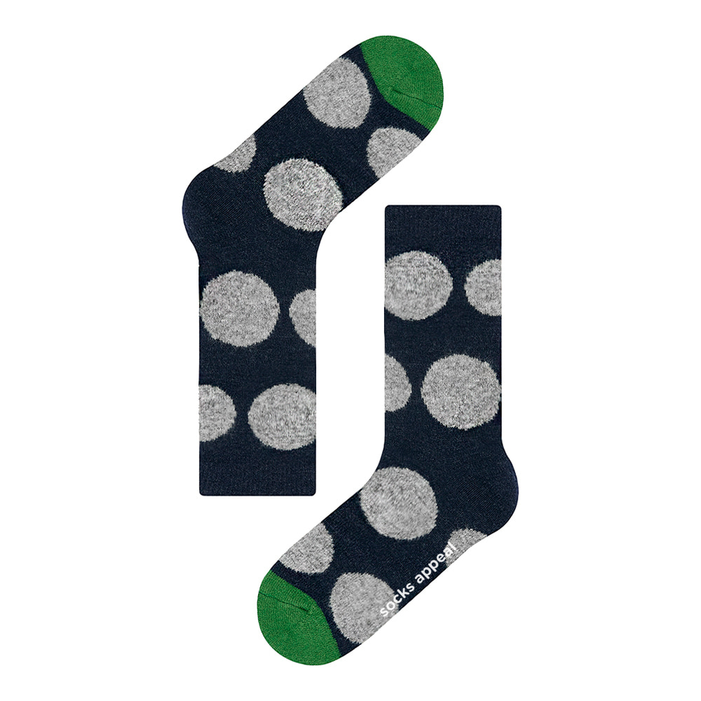 wool pebble dot navy (FINAL SALE 30% OFF)