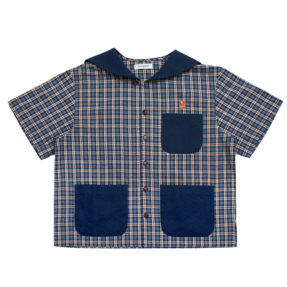 paddington sailor shirt teddy navy