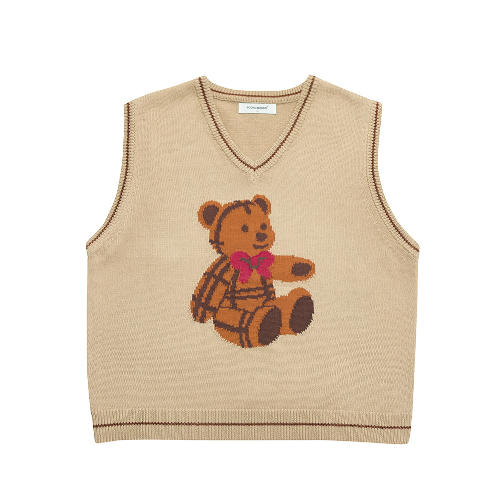 paddington teddy vest beige