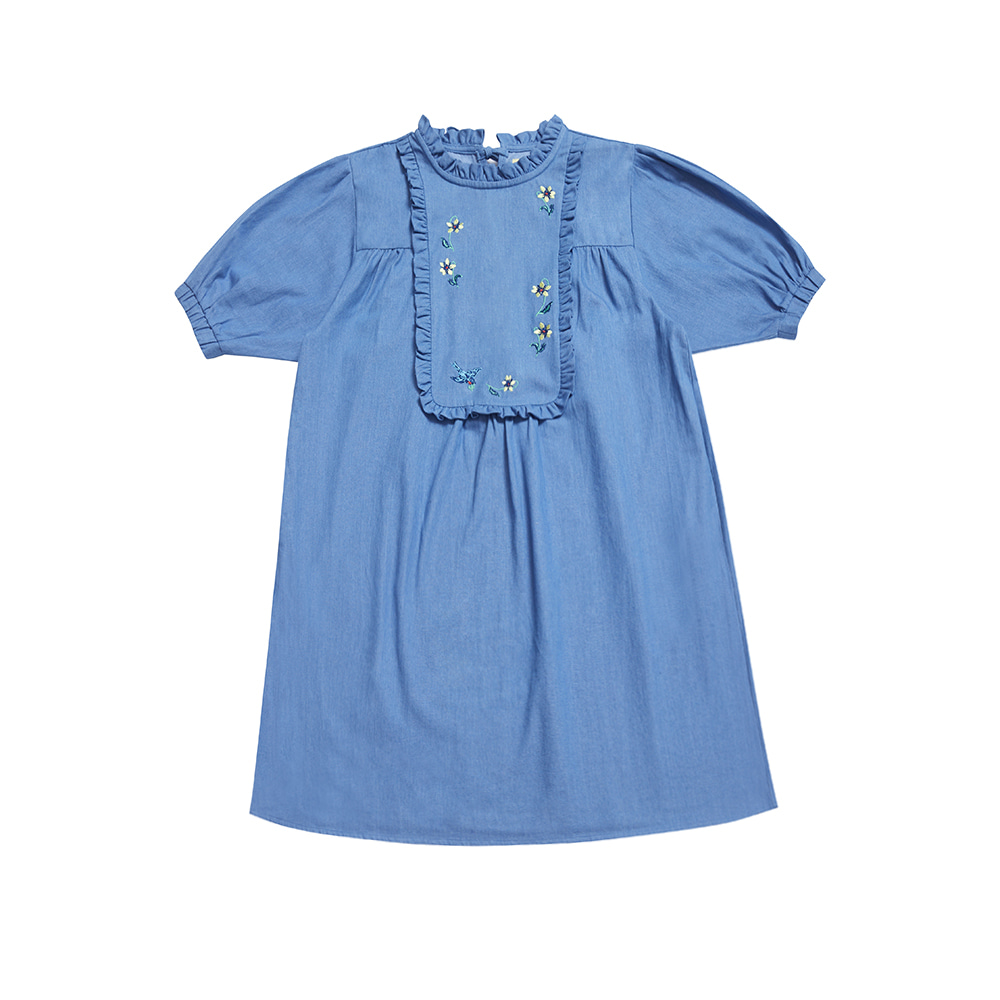 NAT denim dress blue bird