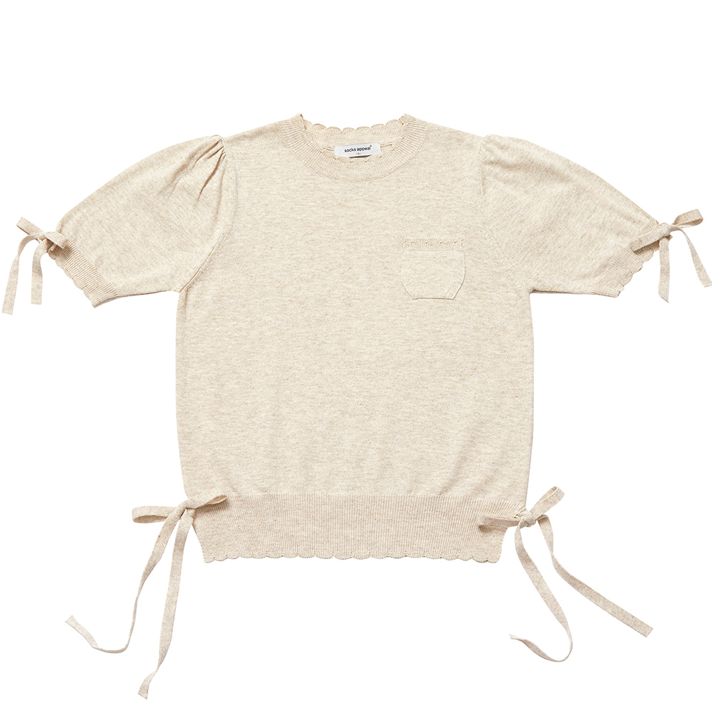 RIBBON GIRL summer knit oatmeal (EVENT 10% OFF)
